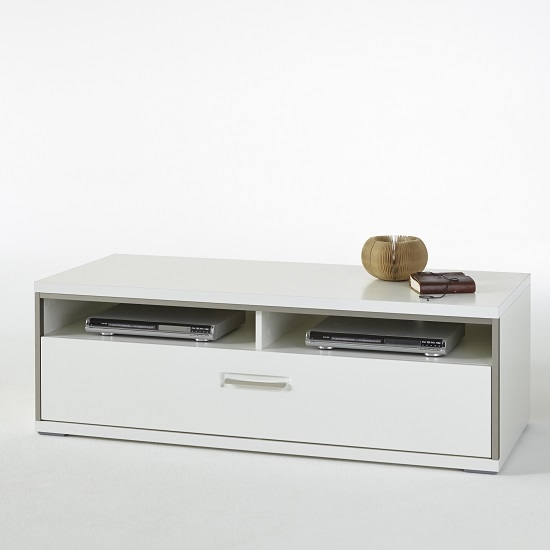 Brilliant Premium Small White TV Stands For Lia Small Lcd Tv Stand In White High Gloss With 1 Drawer (Image 13 of 50)