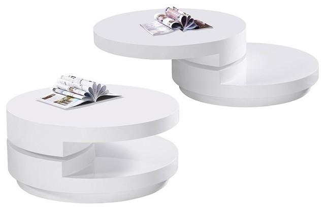 Brilliant Premium White Circle Coffee Tables Inside Modern White Round Coffee Table Table And Estate (Image 7 of 50)