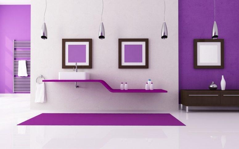 Brilliant Series Of All Modern TV Stands Regarding Light Purple Living Room Rectangular Double Pedestal Oak Wood (Image 11 of 50)