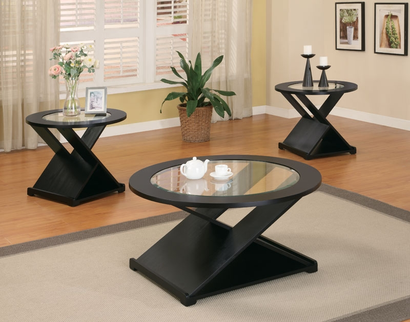 Brilliant Series Of Black Circle Coffee Tables With Coffee Table Terrific Black Glass Coffee Table Set Black Coffee (Image 10 of 50)