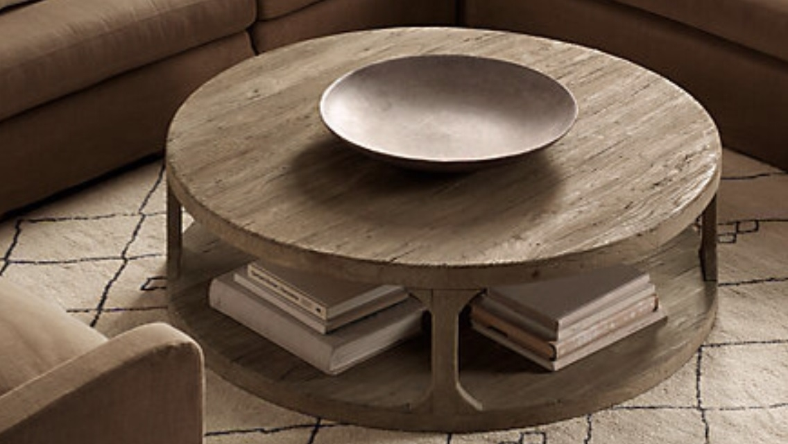 Brilliant Series Of Circular Coffee Tables With Storage Within Contemporary Coffee Table Round Wood (Image 10 of 50)