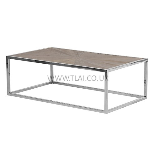 Brilliant Series Of Coffee Tables With Chrome Legs Pertaining To Wooden Coffee Table With Polished Chrome Legs (Image 9 of 50)