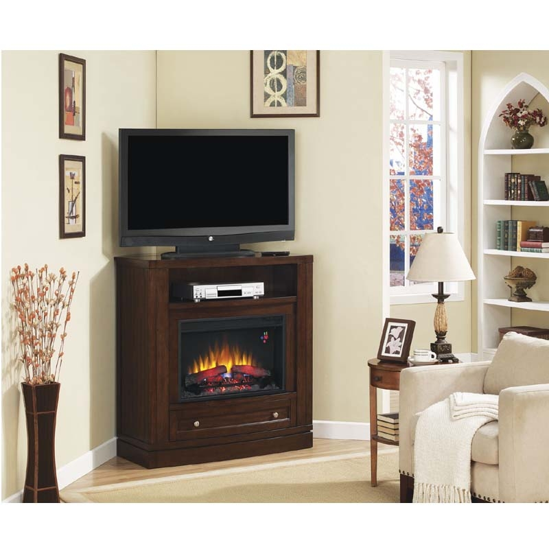 Brilliant Series Of Cream Corner TV Stands For Furniture The Most Valuable Corner Tv Stand With Fireplace For (Image 12 of 50)