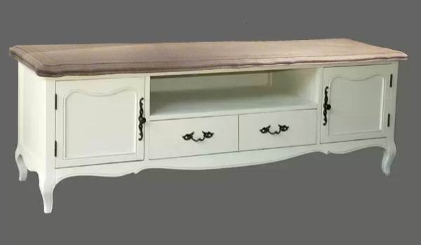 Brilliant Series Of French TV Cabinets Within French Provincial Furniture Entertainment Unit Tv Stand In White (Image 10 of 50)
