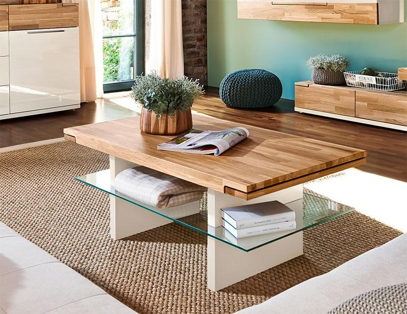 Brilliant Series Of Glass And Oak Coffee Tables For Arte M Feel Modern Solid Oak And Choice Of Leg Style Dining Table (Image 14 of 50)