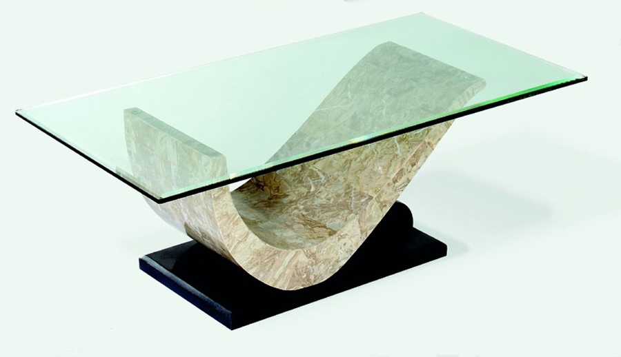 Brilliant Series Of Glass And Stone Coffee Table Inside Stone And Glass Coffee Table (Image 9 of 50)