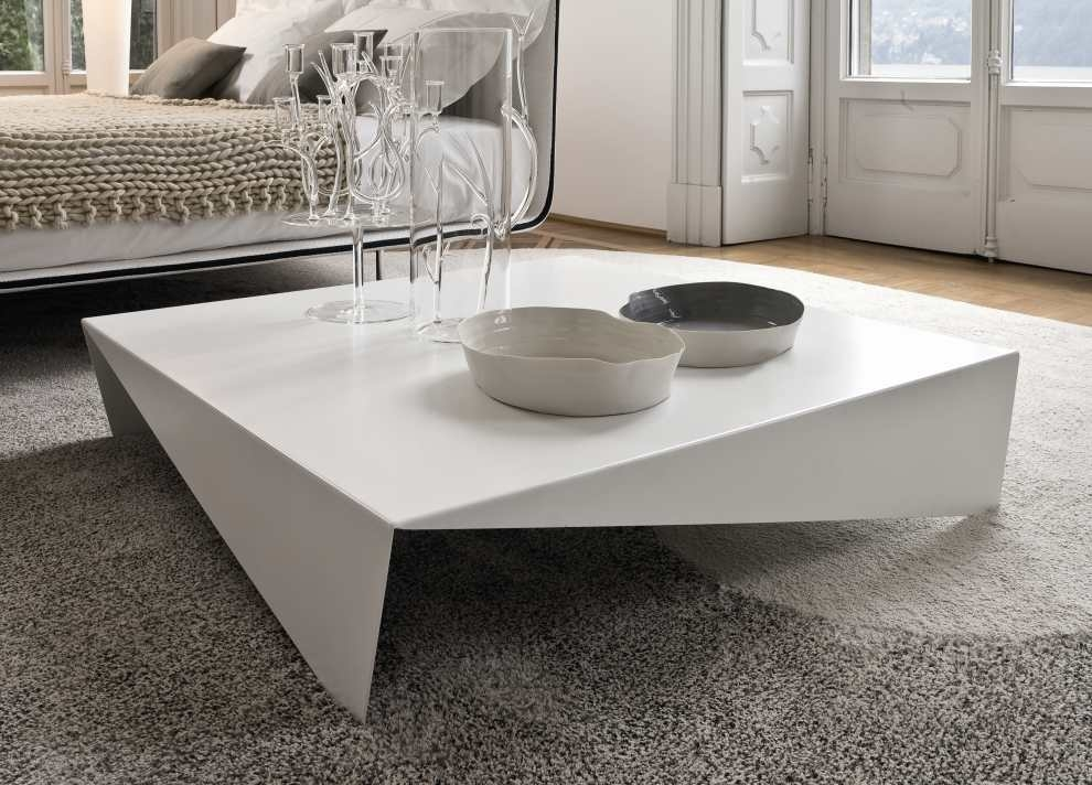 Brilliant Series Of Large Low White Coffee Tables With Regard To Modern Square Coffee Table Low Square Modern Square Coffee Table (View 10 of 50)