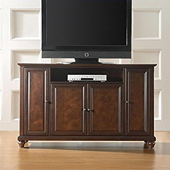 Brilliant Series Of Mahogany TV Stands Furniture Pertaining To Amazon Crosley Furniture Cambridge 60 Inch Tv Stand Vintage (Image 7 of 50)