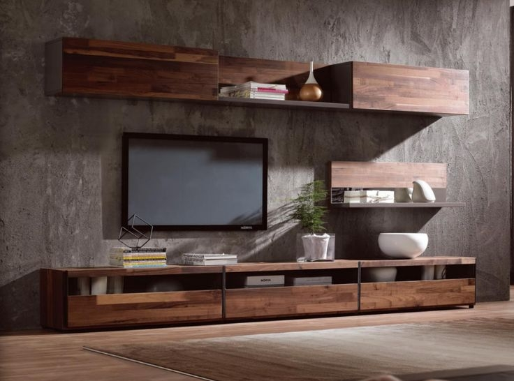 Brilliant Series Of Modern Wooden TV Stands Inside Modern Simple Tv Standwalnut Wood Veneer Tv Cabinet Buy Tv (Image 15 of 50)