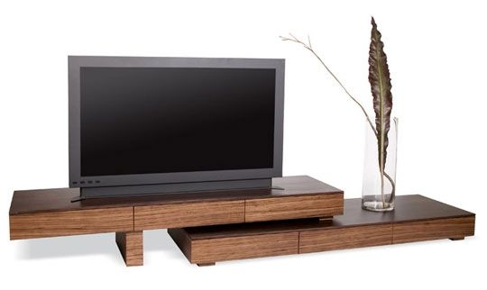 Brilliant Series Of Modern Wooden TV Stands With Regard To Zebra Wood Anguilla Tv Stand Tv Stands Tvs And Woods (Image 16 of 50)