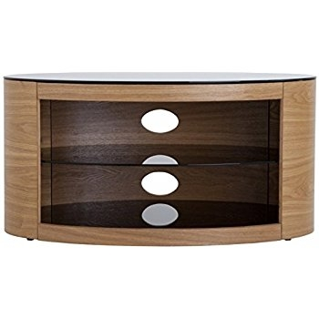 Brilliant Series Of Oak TV Stands Within Sirius 850 Oak And Black Corner Tv Cabinet Amazoncouk Electronics (Image 10 of 50)