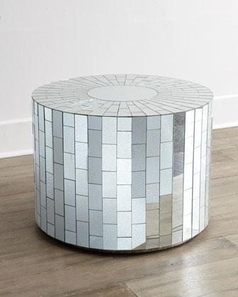 Brilliant Series Of Round Mirrored Coffee Tables Pertaining To Silver Ava Mirrored Coffee Table (Image 5 of 40)