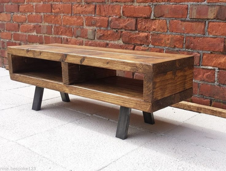 Brilliant Series Of Rustic Coffee Tables And Tv Stands Intended For Contemporary Rustic Industrial Tv Stand Unit Cabinet Or Coffee (View 9 of 50)