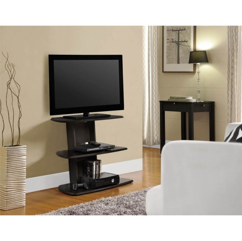 Brilliant Series Of Skinny TV Stands In Furniture Espresso Tall Tv Stand In Black Color And Desk Also (Image 8 of 50)