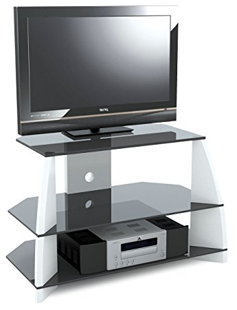 Brilliant Series Of Stil TV Stands Within Stil Stand High Gloss White Corner Tv Stand For Up To Amazonco (View 21 of 49)