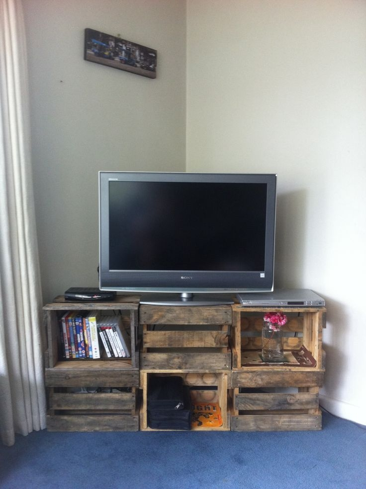 Brilliant Series Of TV Stands With Storage Baskets With Regard To Best 25 Crate Tv Stand Ideas On Pinterest Cheap Wooden Tv (View 17 of 50)