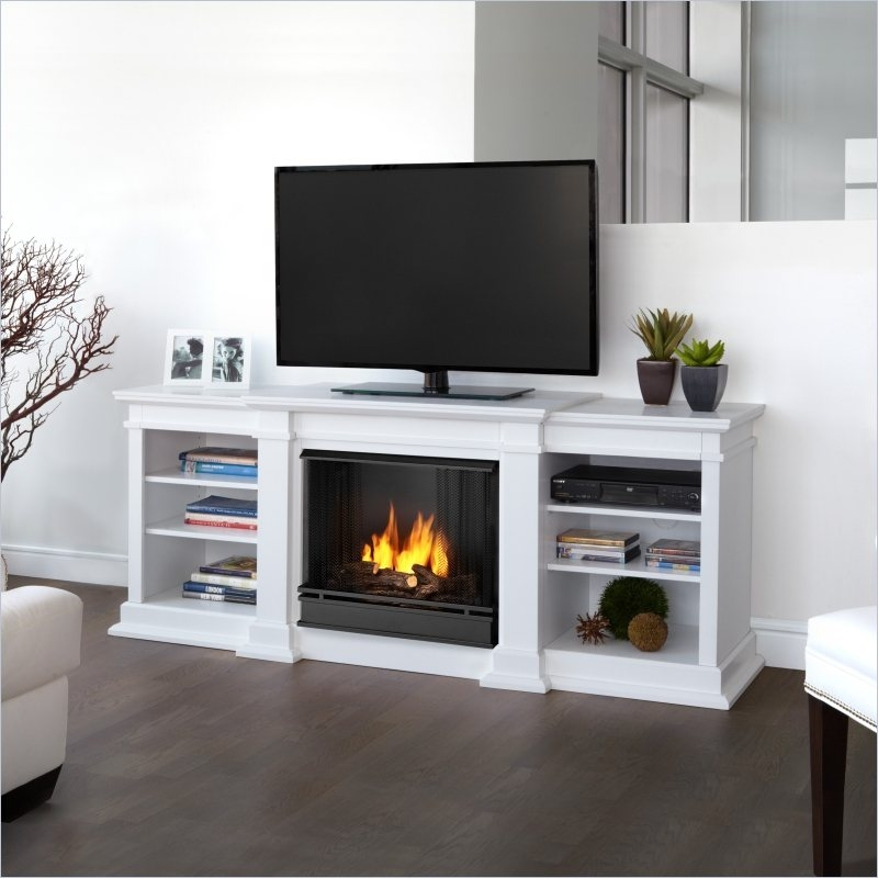 Brilliant Series Of White Small Corner TV Stands Intended For Tv Stands Affordable Corner Tv Stand With Fireplace Design  (Image 10 of 50)