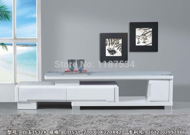 Brilliant Series Of White Wood TV Cabinets Intended For Living Room Tv Stands (Image 15 of 50)