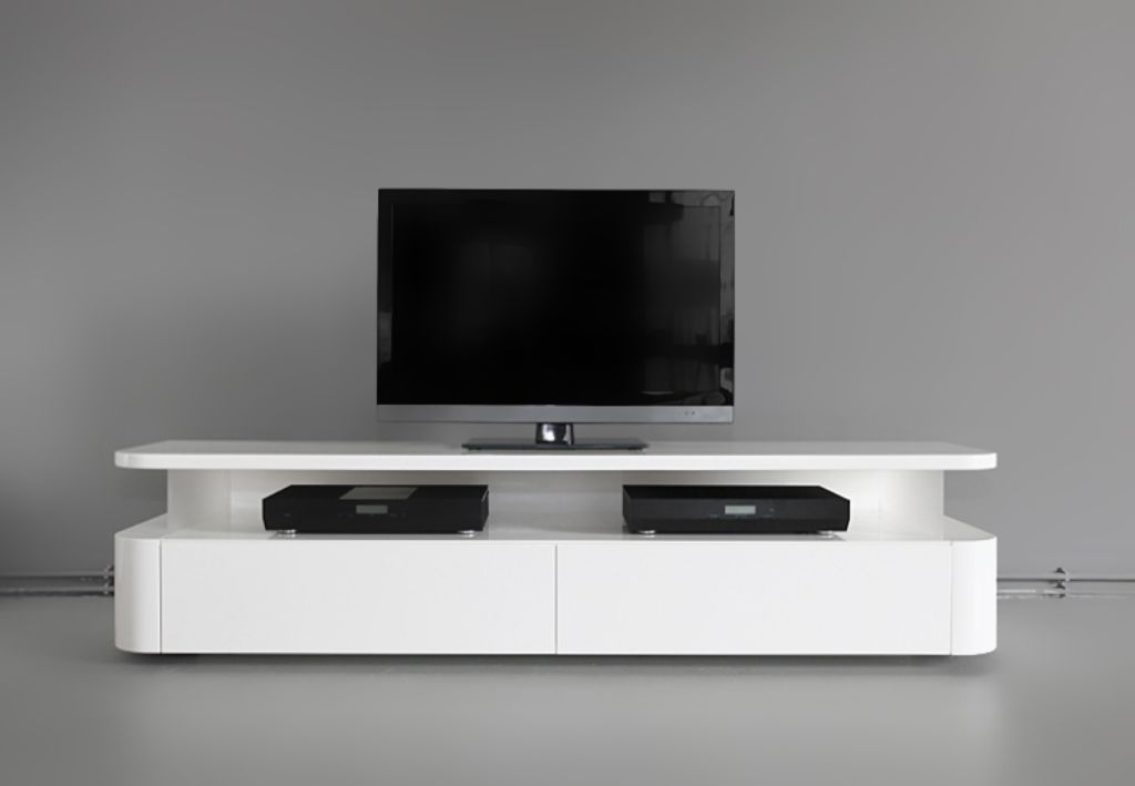 Brilliant Series Of White Wooden TV Stands Regarding Charm And Modern Tv Stands For Flat Screens Tedxumkc Decoration (Image 11 of 50)