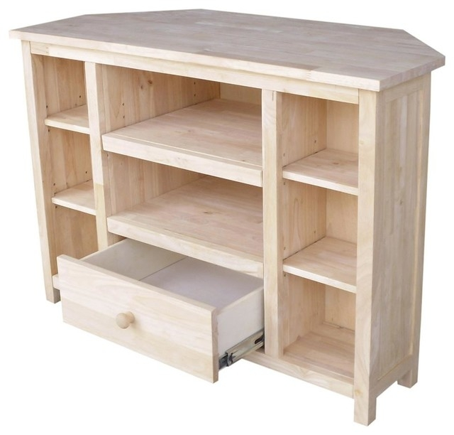Brilliant Series Of Wooden Corner TV Stands Within 39 In Corner Tv Stand Beach Style Entertainment Centers And (View 26 of 50)
