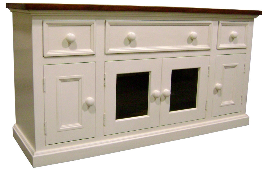 Brilliant Top French Country TV Stands Pertaining To Media Console Tv Stand Kate Madison Furniture (View 28 of 50)