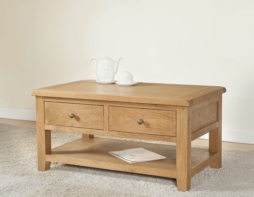 Featured Image of Light Oak Coffee Tables With Drawers