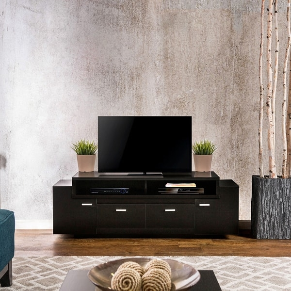 Brilliant Top Modern 60 Inch TV Stands Throughout Furniture Of America 60 Inch Peyton Modern Tiered Tv Stand Free (Image 14 of 50)