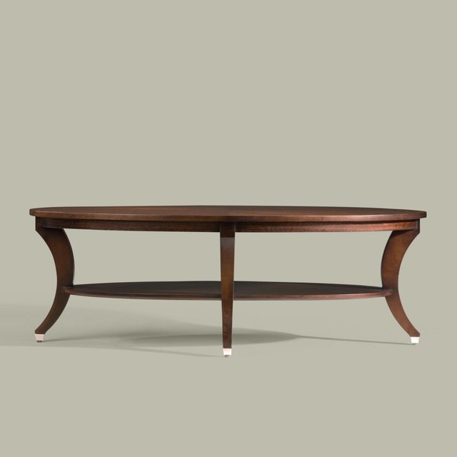 Brilliant Top Oval Walnut Coffee Tables With Regard To Modern Glamour Adler Oval Coffee Table Traditional Coffee Tables (Image 10 of 50)