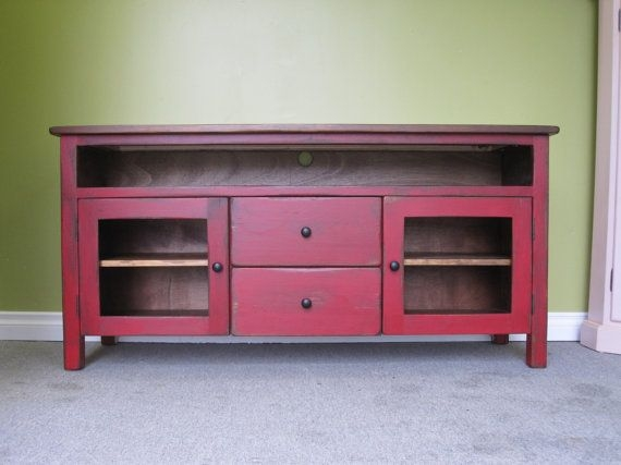 Brilliant Top Red TV Stands With Regard To 7 Best Tv Stand Images On Pinterest Painted Furniture (Image 11 of 50)