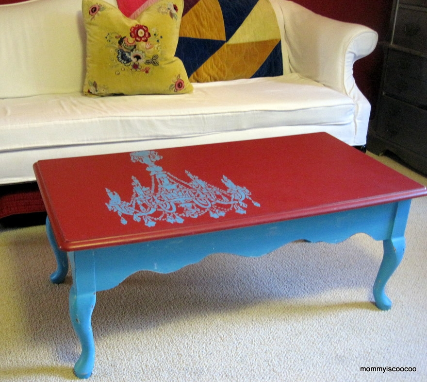 Brilliant Top Round Red Coffee Tables With Regard To Round Victorian Coffee Table Mommy Is Coo Coo (Image 12 of 50)