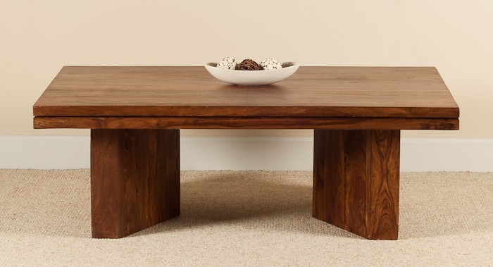 Brilliant Top Sheesham Coffee Tables With Angled Coffee Table Sheesham Wood Stained Honey Colour Casa (View 12 of 50)