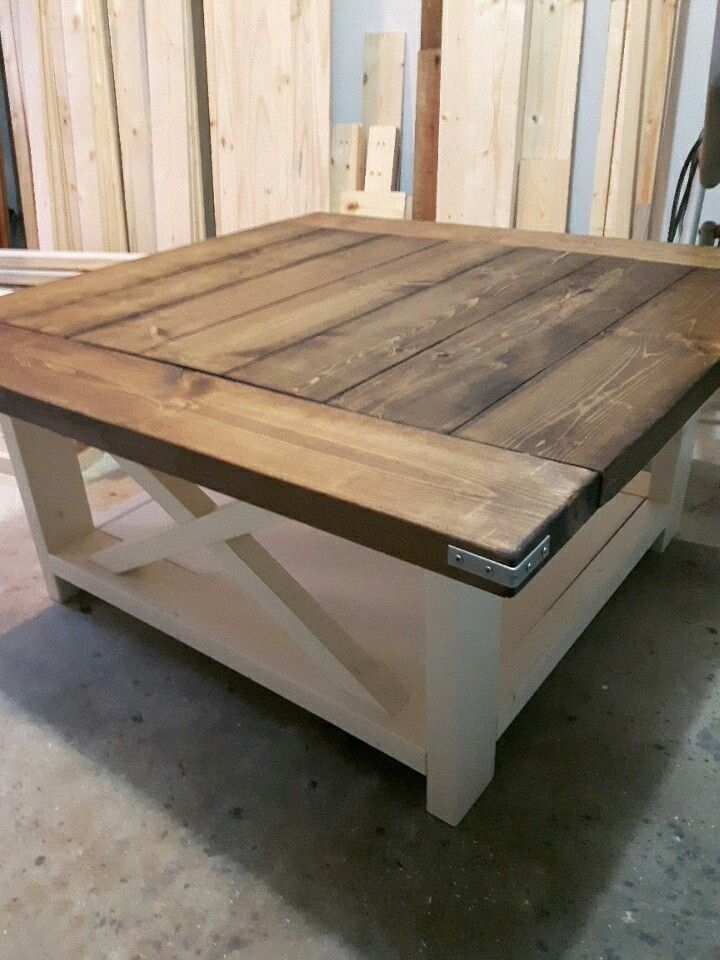 Brilliant Top Square Dark Wood Coffee Table Pertaining To Best 20 Square Coffee Tables Ideas On Pinterest Build A Coffee (Image 9 of 40)