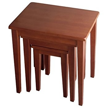 Brilliant Top Stackable Coffee Tables In Amazon Winsome Wood Nesting Table Walnut Kitchen Dining (Image 8 of 50)