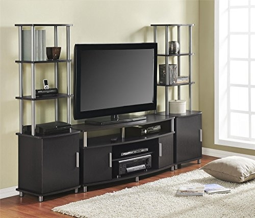 Brilliant Top TV Stands For 50 Inch TVs Throughout Ameriwood Home Carson Tv Stand For Tvs Up To 50 Wide Espresso (Image 11 of 50)