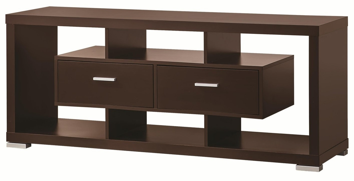 Brilliant Trendy Brown TV Stands Regarding Brown Wood Tv Stand Steal A Sofa Furniture Outlet Los Angeles Ca (View 31 of 45)