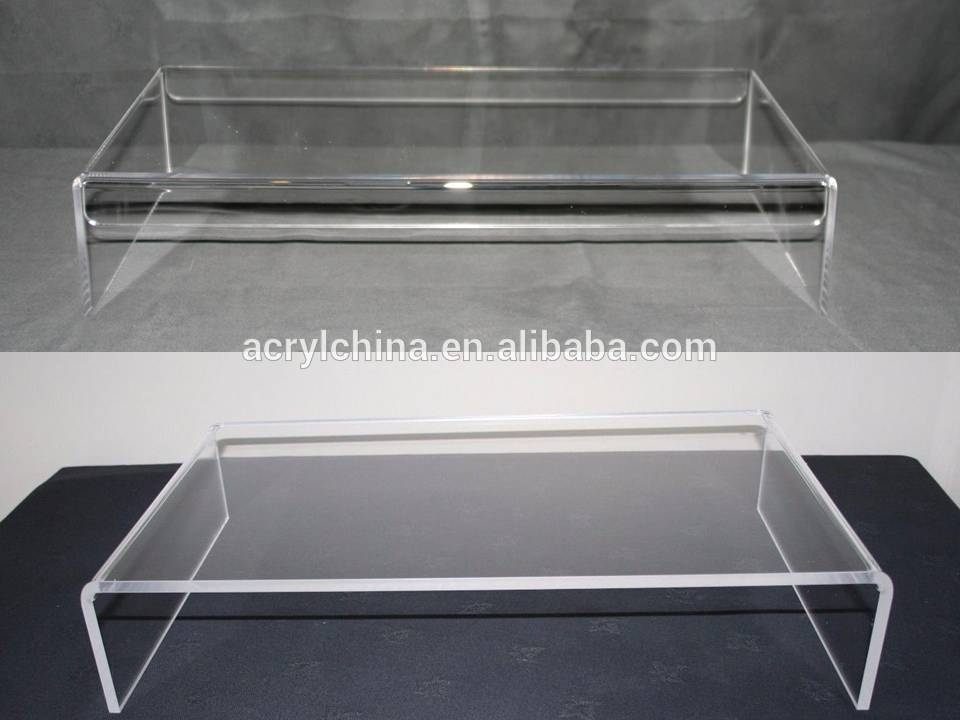 Brilliant Trendy Clear Acrylic TV Stands With Regard To Clear Acrylic Computer Monitor Stand Clear Acrylic Computer (Image 11 of 50)