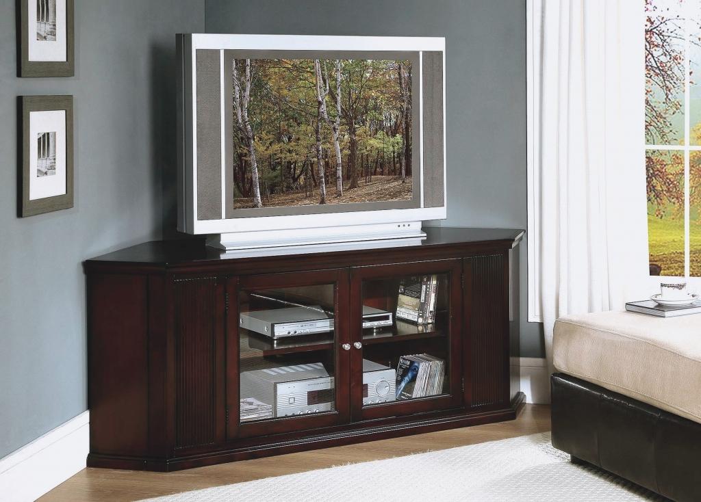Brilliant Trendy Dark Oak Corner TV Cabinets Regarding Tv Stands 10 Favorite Design Corner Tv Stands For Flat Screens (Image 15 of 50)