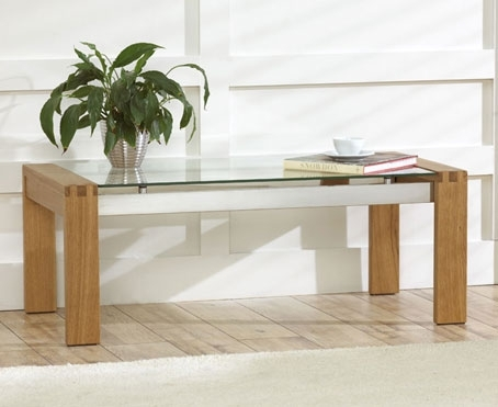 Brilliant Trendy Glass And Oak Coffee Tables In Rochelle Solid Oak Glass Coffee Table Oak Furniture Solutions (Image 15 of 50)