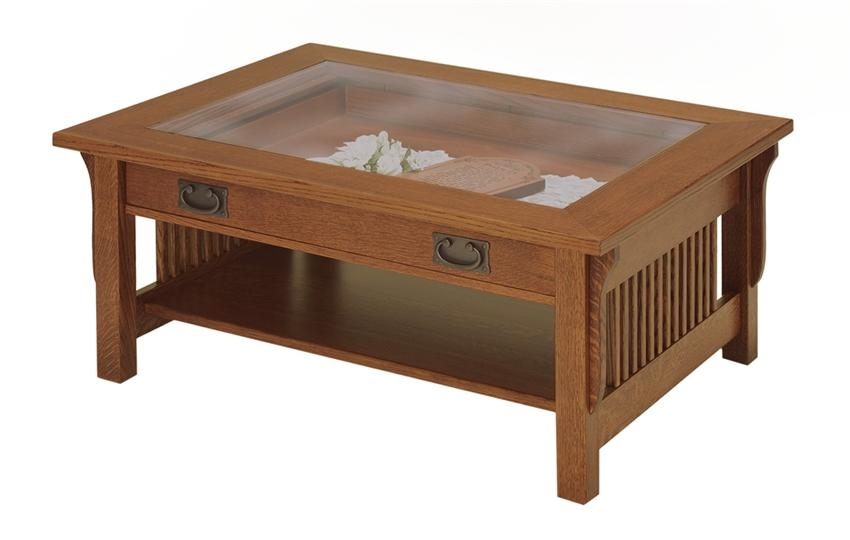 Brilliant Trendy Glass Top Display Coffee Tables With Drawers Pertaining To Wonderful Display Coffee Table (Image 18 of 50)