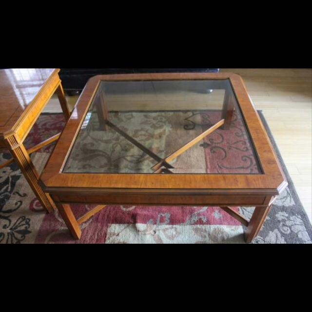 Brilliant Trendy Heritage Coffee Tables Regarding Drexel Heritage Coffee Table Set Furniture Home On Carousell (Image 10 of 50)