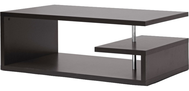 Brilliant Trendy Modern Coffee Tables In Lindy Modern Coffee Table Dark Brown Contemporary Coffee (Image 11 of 40)