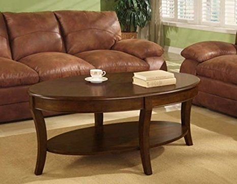 Brilliant Trendy Oval Walnut Coffee Tables Pertaining To Amazon Oval Walnut Coffee Table A Beautiful Accent Table (Image 11 of 50)