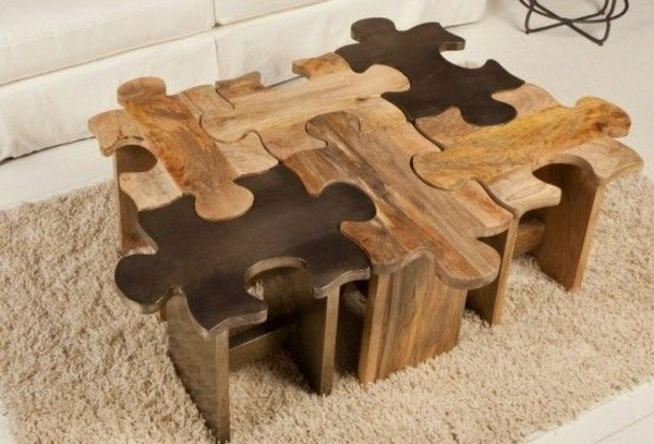 Brilliant Trendy Puzzle Coffee Tables For Coffee Table Wood Modern Living Room Tables Fresh Design Pedia (View 2 of 40)