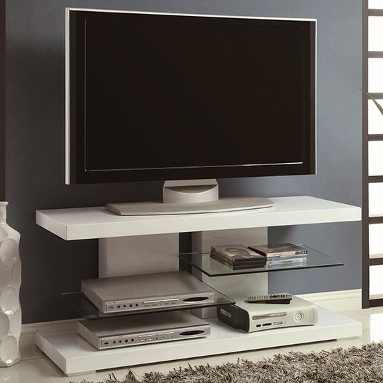 Brilliant Trendy White High Gloss Corner TV Stands Inside Modern Wall Units And Tv Stands (Image 11 of 50)