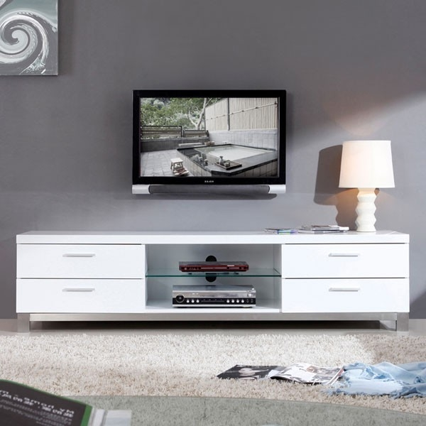 Brilliant Trendy White TV Stands Pertaining To White Tv Stand For Living Room (Image 9 of 50)