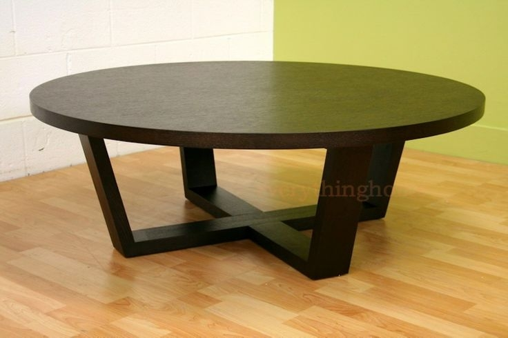 Brilliant Unique Big Black Coffee Tables Regarding Wonderful Black Round Coffee Table (Image 7 of 50)