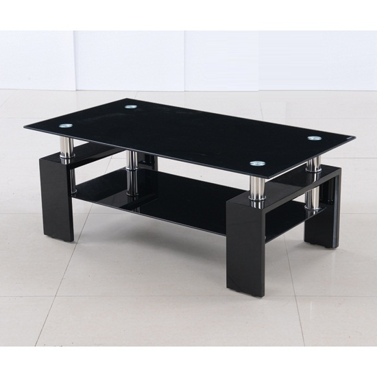 Brilliant Unique Black Glass Coffee Tables For Black Glass Coffee Table (Image 15 of 50)
