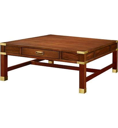 Brilliant Unique Campaign Coffee Tables With Regard To Campaign Style Wood Coffee Table Mecox Gardens (Image 13 of 50)