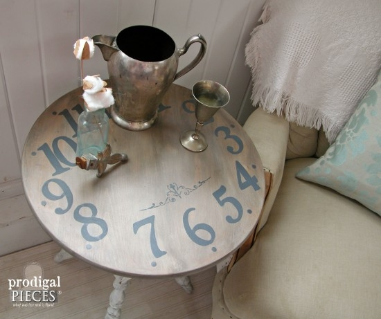 Brilliant Unique Coffee Tables With Clock Top Throughout Clock Face Table A Trash To Treasure Tale Prodigal Pieces (Image 12 of 40)