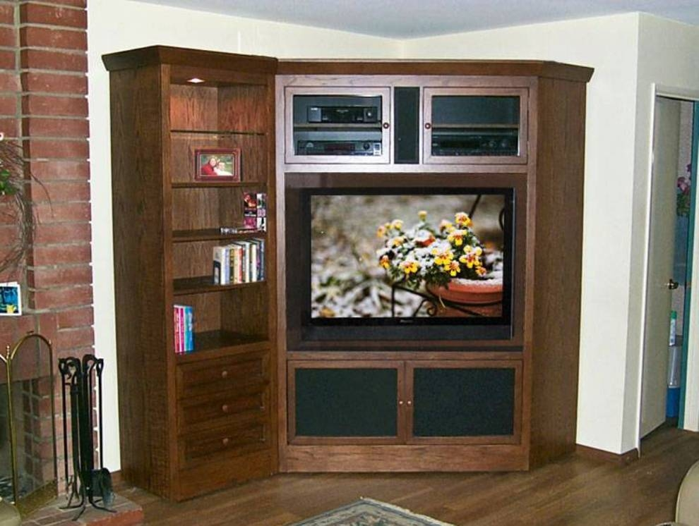 Brilliant Unique Corner Wooden TV Cabinets Within Corner Wooden Tv Cabinets Designs Elegant Tv Cabinets Designs (View 28 of 50)